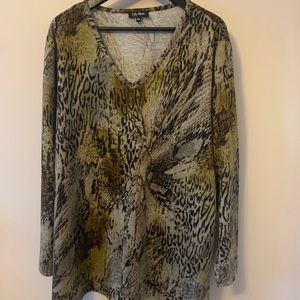 2/$18 V-Neck / Sweater / Animal / Abstract Print